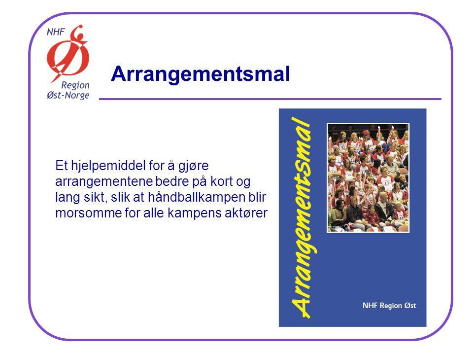 Arrangementsmal Et hjelpemiddel for å gjøre arrangementene bedre på kort og lang sikt, slik at håndballkampen blir morsomme for alle kampens aktører
