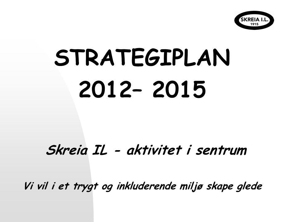 STRATEGIPLAN 2012– 2015 Skreia IL - aktivitet i sentrum Vi vil i et trygt og inkluderende miljø skape glede