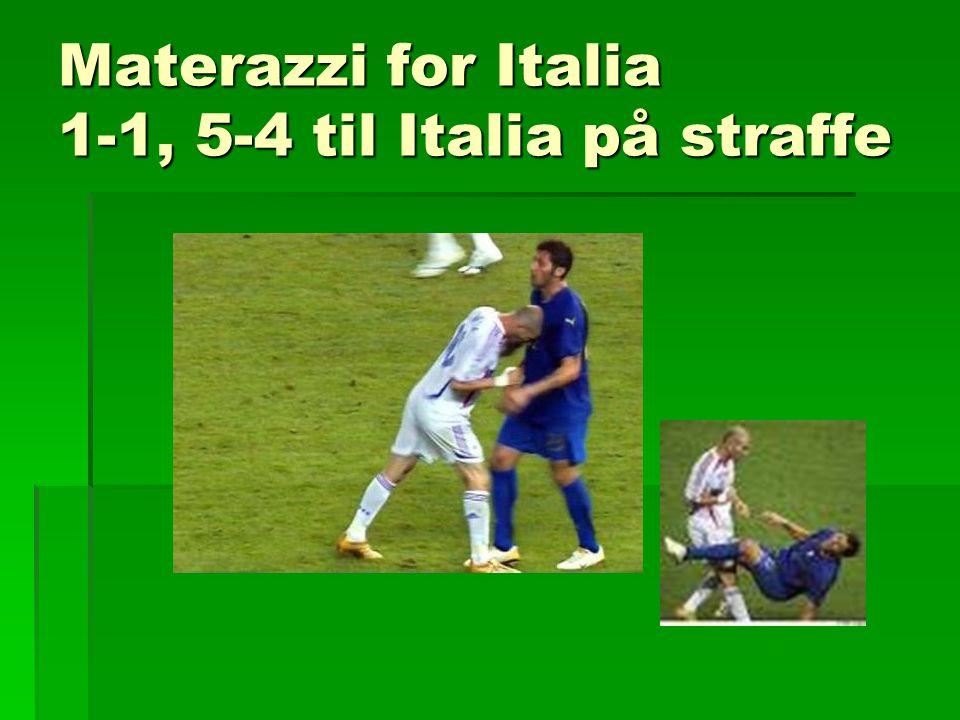 Materazzi for Italia 1-1, 5-4 til Italia på straffe