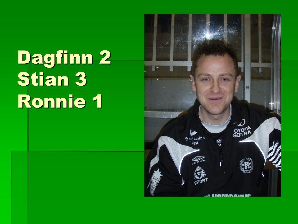Dagfinn 2 Stian 3 Ronnie 1