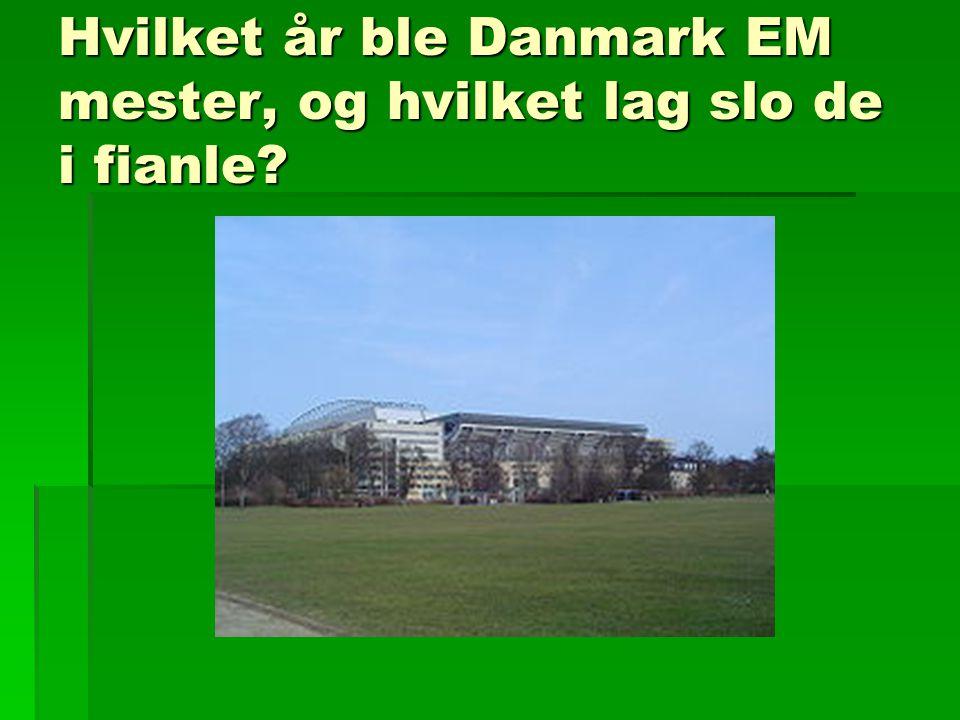 Hvilket år ble Danmark EM mester, og hvilket lag slo de i fianle?