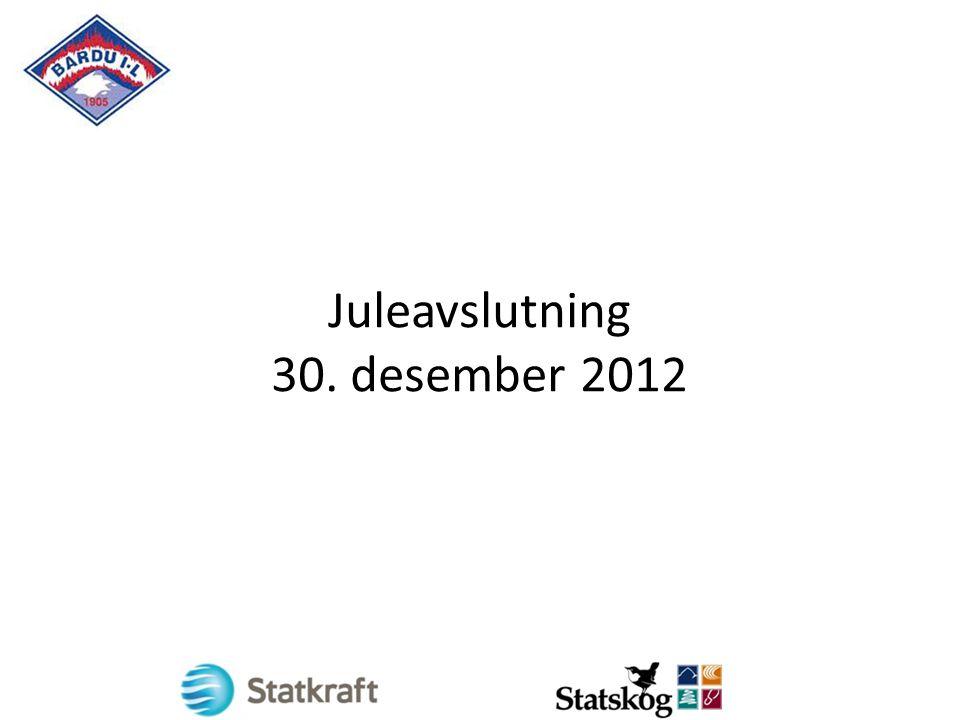 Juleavslutning 30. desember 2012