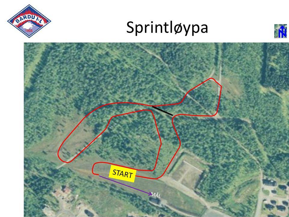 2,5 Km MÅL START Sprintløypa