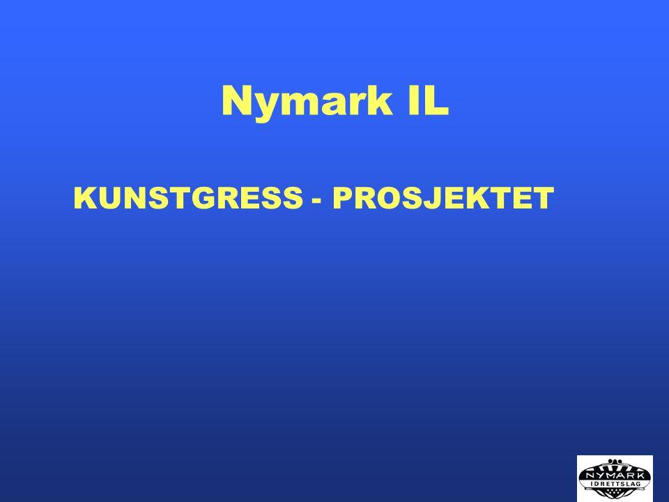 Kunstgress prosjektet Høsten 2004 - Nymark IL søkte HFK om midler til forstudie Høsten 2004 – midler til forstudie ble innvilget med kr.