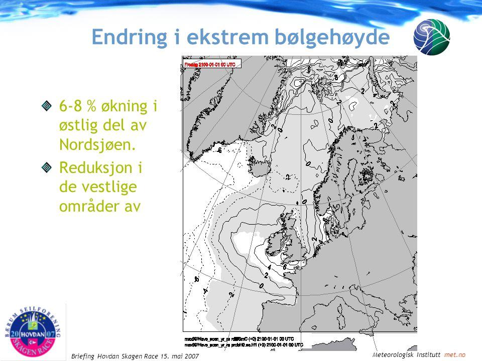 Meteorologisk Institutt met.no Briefing Hovdan Skagen Race 15.