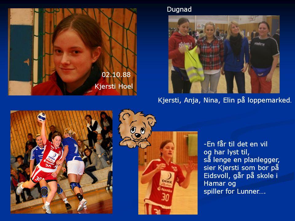 Kjersti Hoel 02.10.88 Dugnad Kjersti, Anja, Nina, Elin på loppemarked.