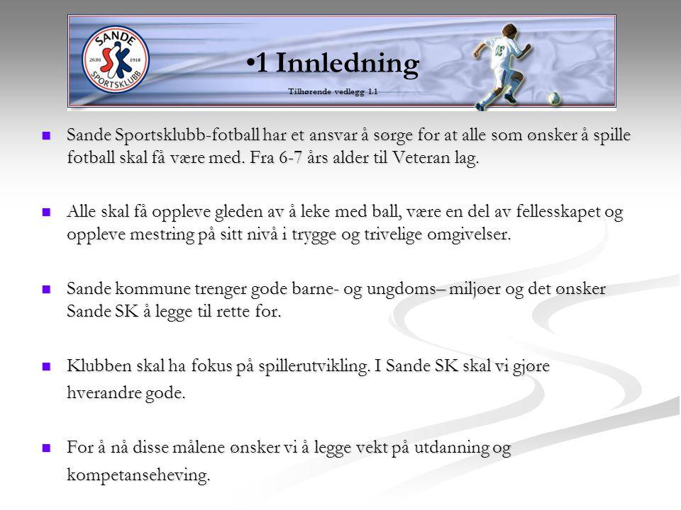 Tilhørende vedlegg *2.1 – 2.7 Fotball tilbud til alle i Sande.