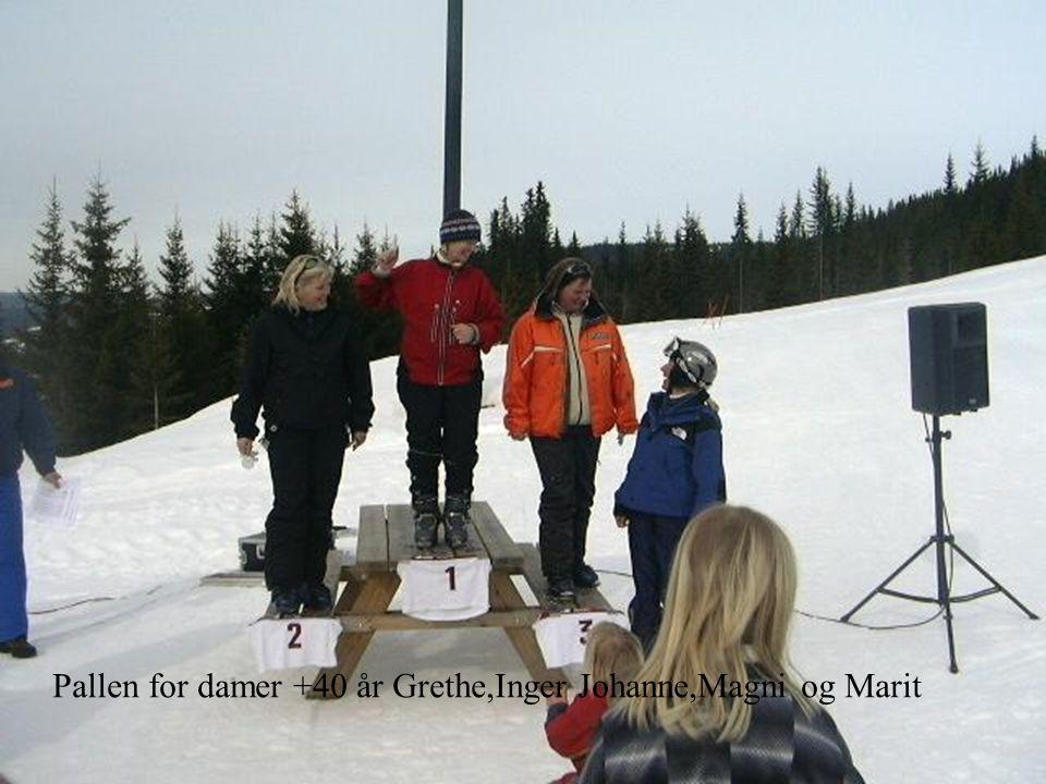 Pallen for damer +40 år Grethe,Inger Johanne,Magni og Marit