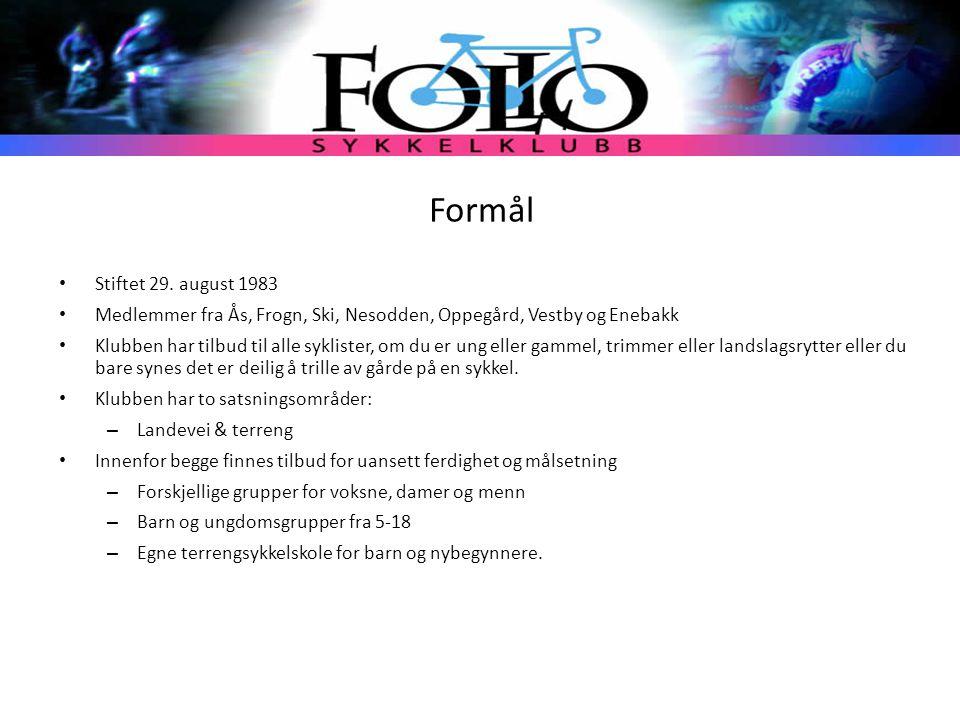 Formål Stiftet 29. august 1983 Medlemmer fra Ås, Frogn, Ski, Nesodden, Oppegård, Vestby og Enebakk Klubben har tilbud til alle syklister, om du er ung