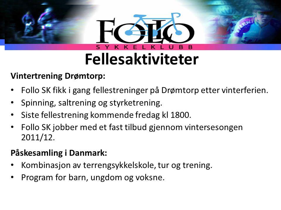 Fellesaktiviteter Vintertrening Drømtorp: Follo SK fikk i gang fellestreninger på Drømtorp etter vinterferien. Spinning, saltrening og styrketrening.