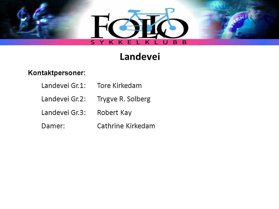 Landeveisgruppene – 3(4) grupper på landevei – Gruppe 1 (Tore Kirkedam) – Gruppe 2 (Trygve R.