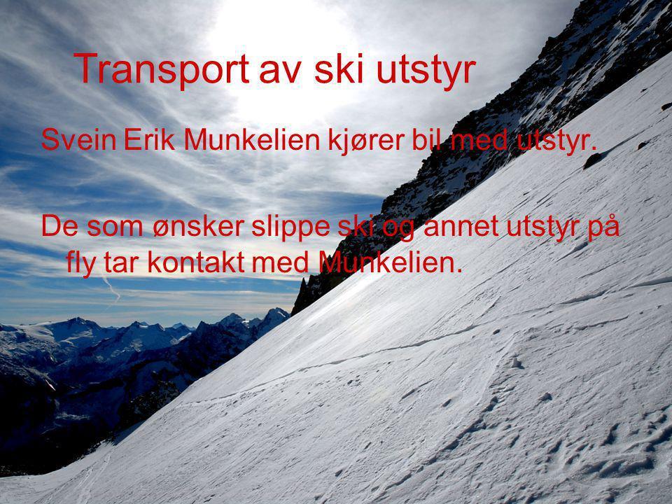 Transport av ski utstyr Svein Erik Munkelien kjører bil med utstyr.