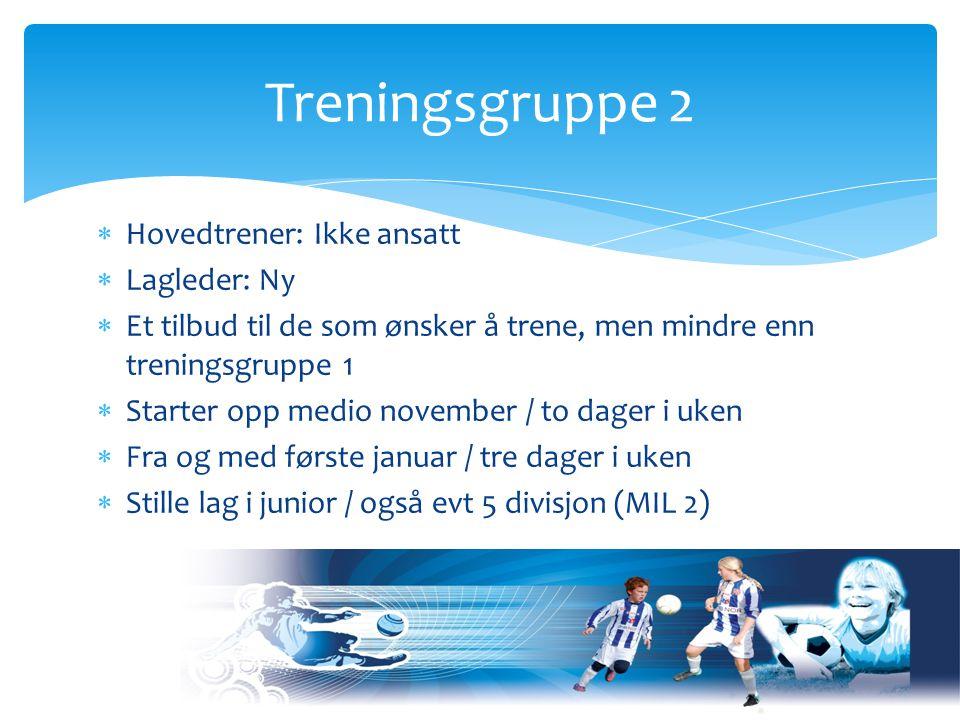 Hovedtrener: Ikke Ansatt  Hjelpetrenere: Ikke Ansatt  Lagledere: Knut Bergseng / Dag Moen  Et 1.lag / et 2.lag (7 eller 11'er lag?) Gutt 97 / 98