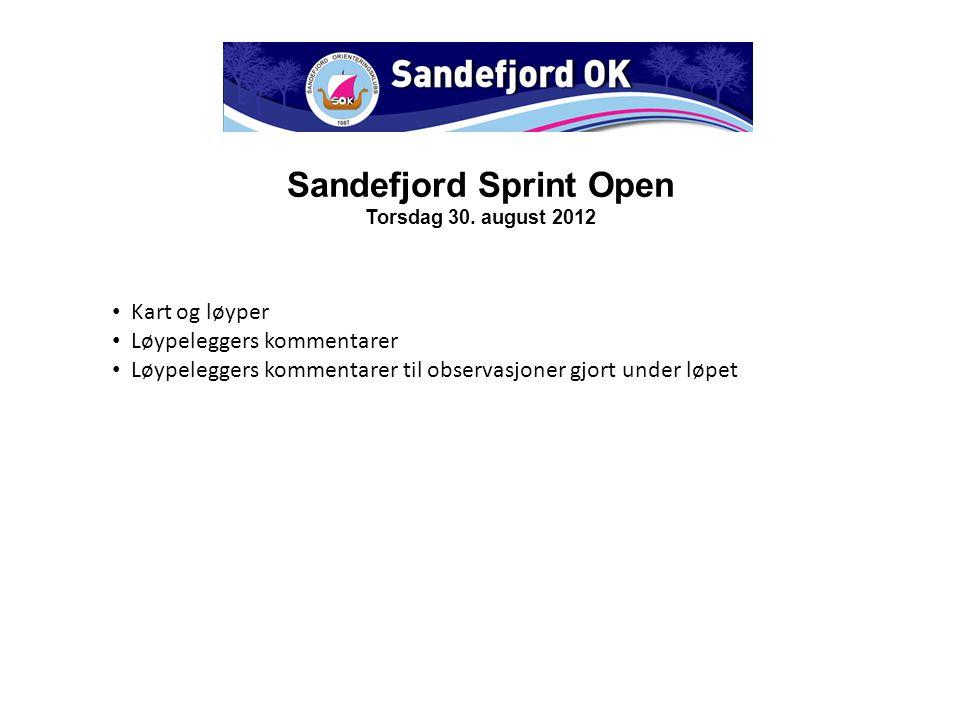 Sandefjord Sprint Open Torsdag 30.