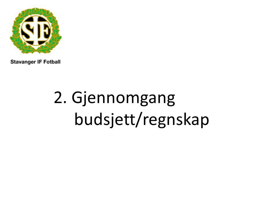 2. Gjennomgang budsjett/regnskap