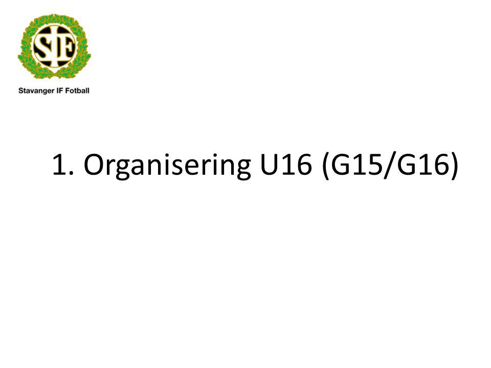 1. Organisering U16 (G15/G16)