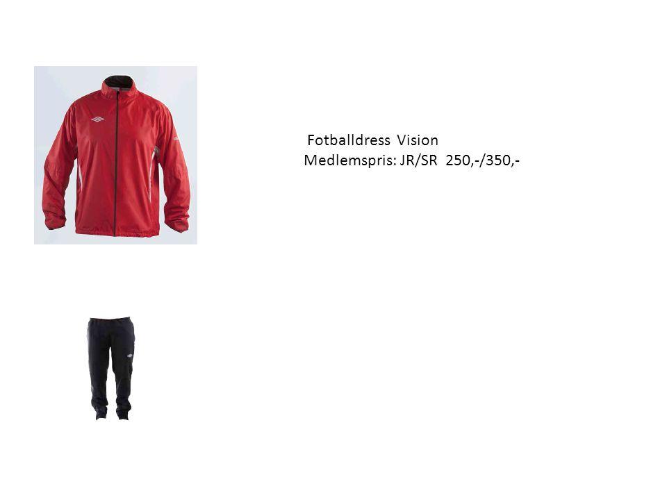 Fotballdress Vision Medlemspris: JR/SR 250,-/350,-