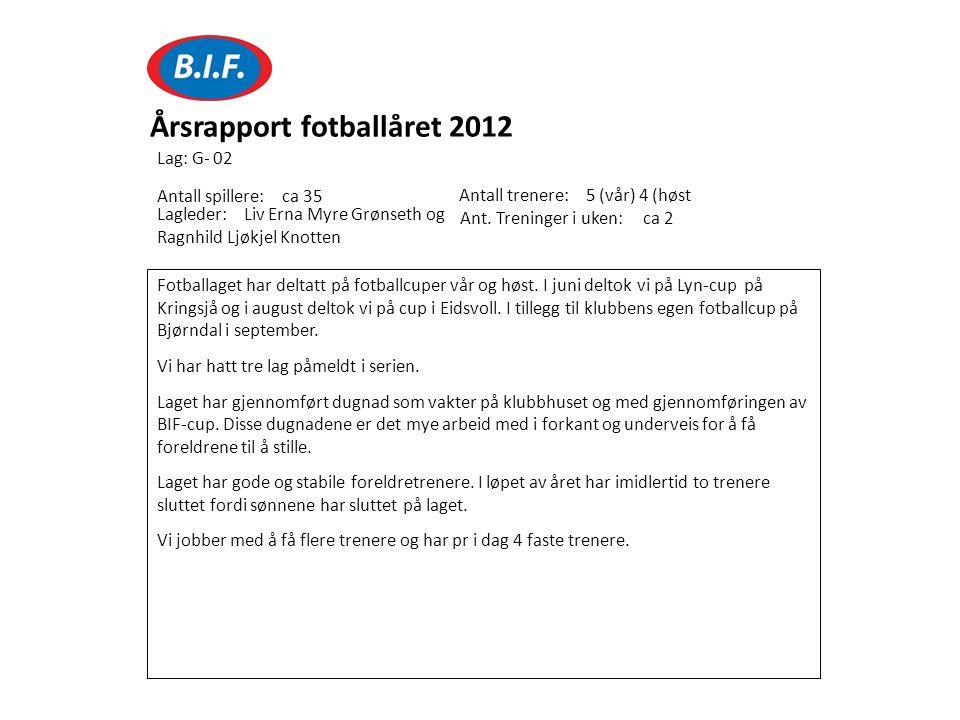 Fotballaget har deltatt på fotballcuper vår og høst. I juni deltok vi på Lyn-cup på Kringsjå og i august deltok vi på cup i Eidsvoll. I tillegg til kl