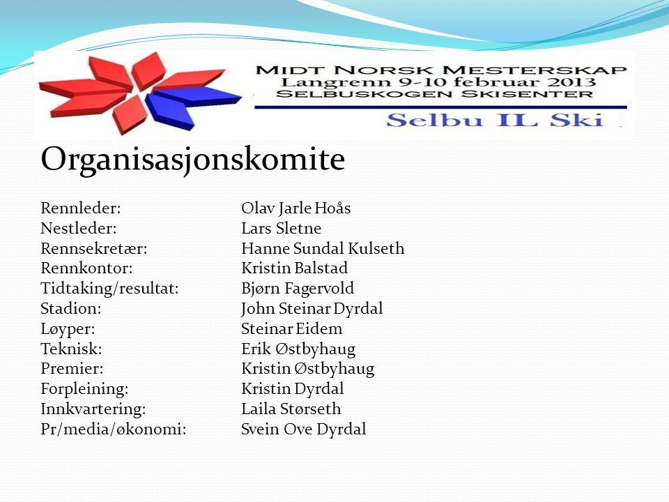 Generell informasjon Startnr hentes ut på rennkontor, klubbvis.