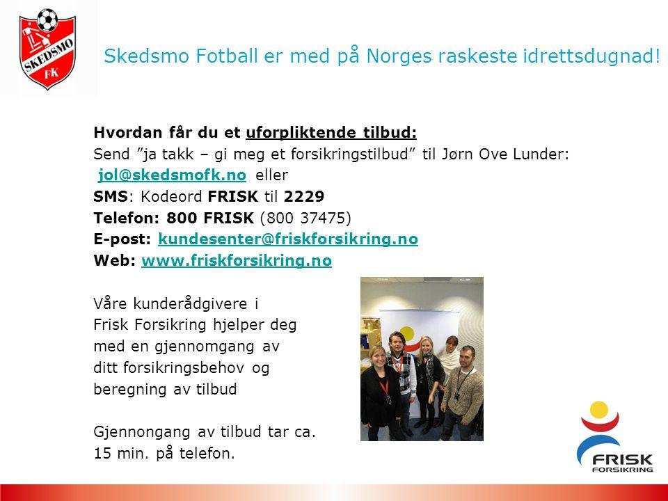 Skedsmo Fotball er med på Norges raskeste idrettsdugnad.