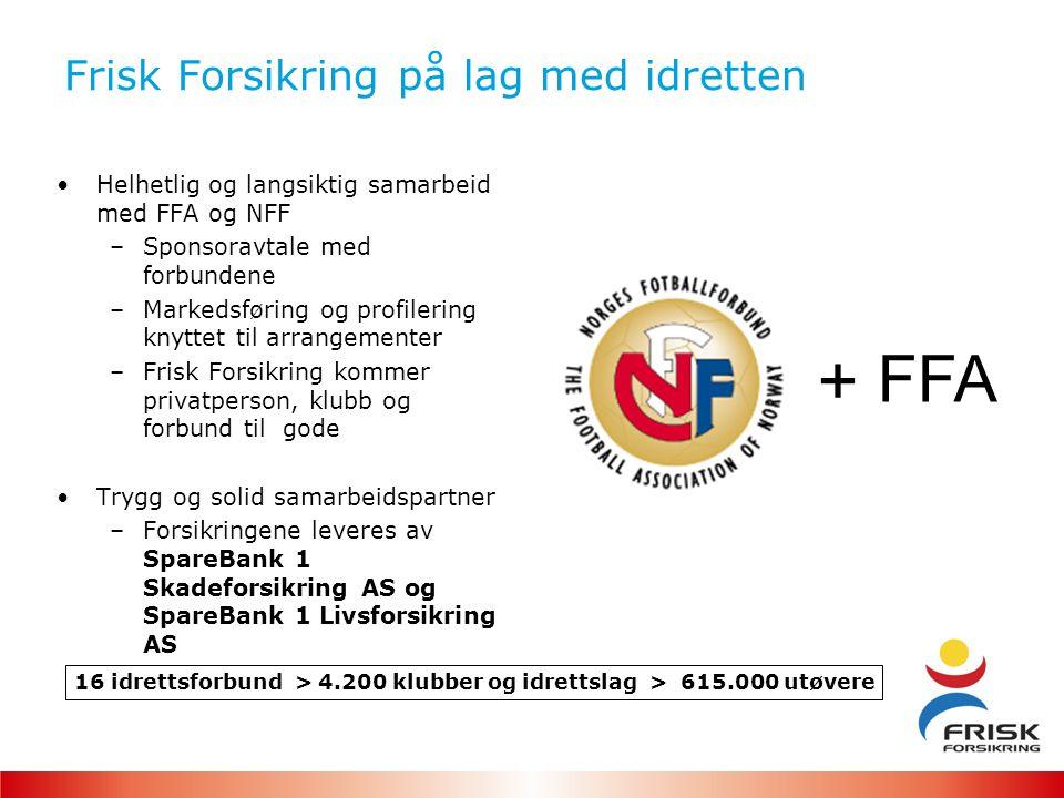 Hvis 100 familier fra Skedsmo Fotball kjøper Frisk Forsikring: Forutsetning Gjennomsnittlig forsikringspremie for en familie kr 15.000,- Kundeforhold i 5 år = kr 45.000 i året = kr 225.000 i løpet av 5 år
