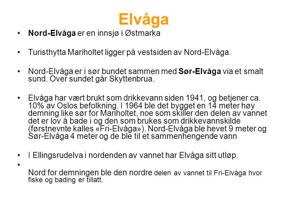 Elvåga Nord-Elvåga er en innsjø i Østmarka Turisthytta Mariholtet ligger på vestsiden av Nord-Elvåga. Nord-Elvåga er i sør bundet sammen med Sør-Elvåg