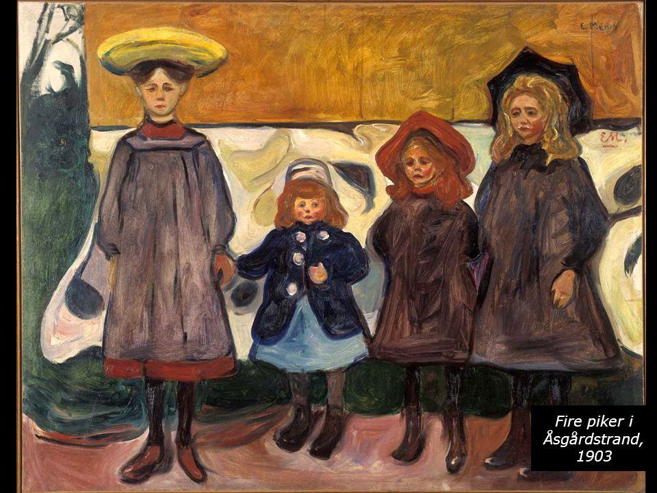 Fire piker i Åsgårdstrand, 1903