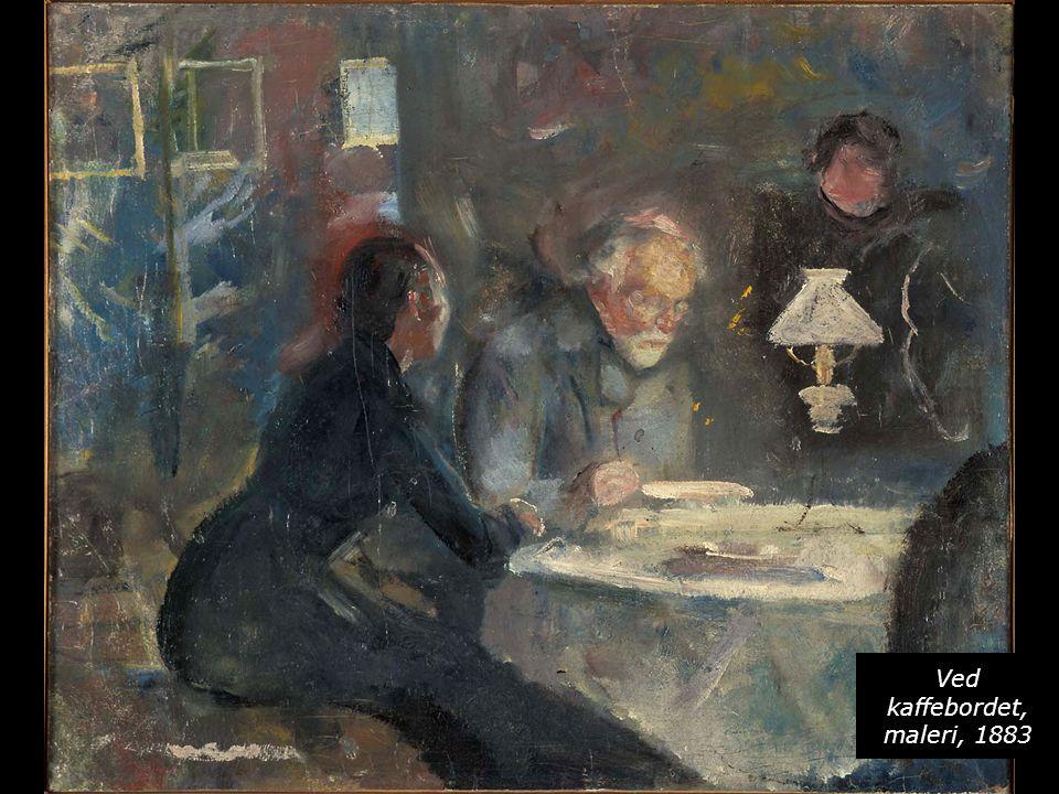Ved kaffebordet, maleri, 1883