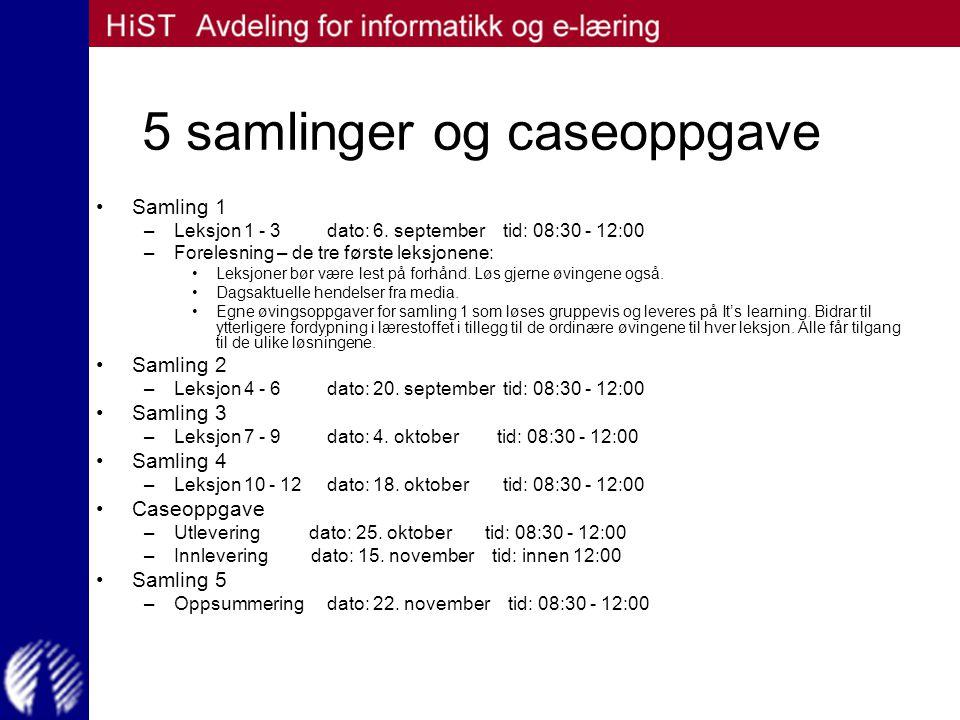 Pensum og øvingsopplegg Pensum er boken: –Håndbok i datasikkerhet av Daler med flere.