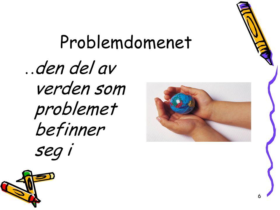 6 Problemdomenet  den del av verden som problemet befinner seg i