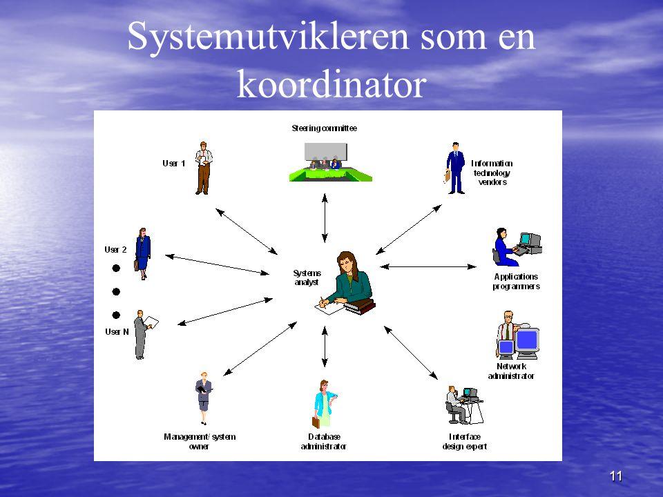 11 Systemutvikleren som en koordinator