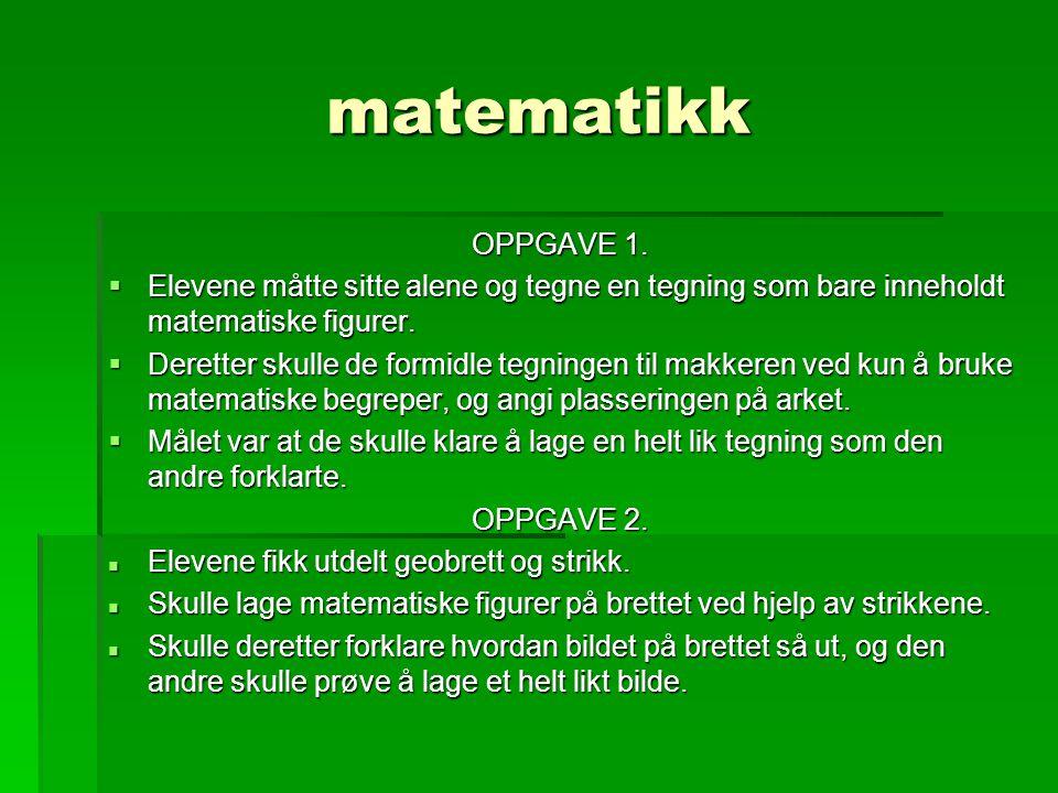 matematikk OPPGAVE 1.