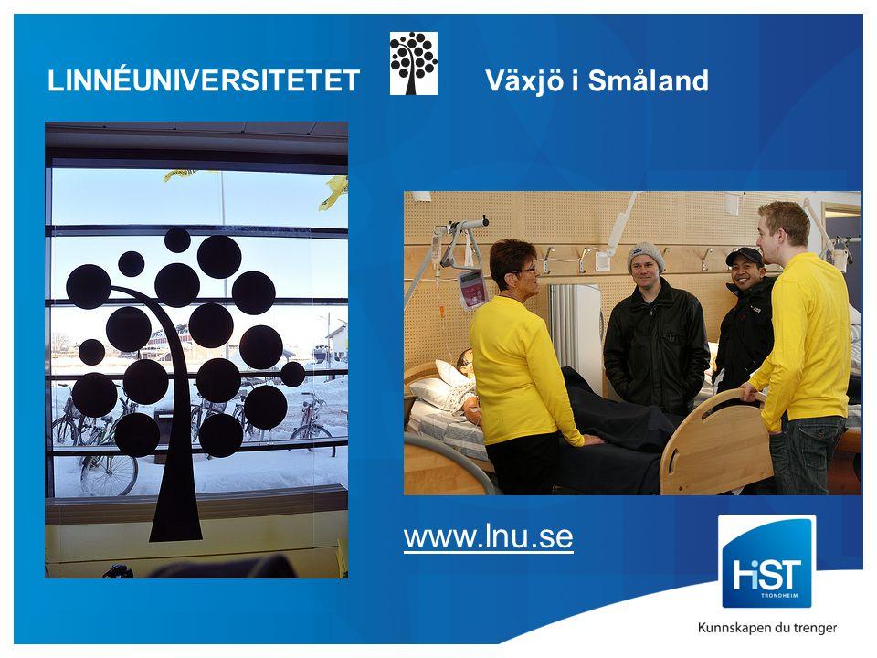 LINNÉUNIVERSITETET Växjö i Småland www.lnu.se