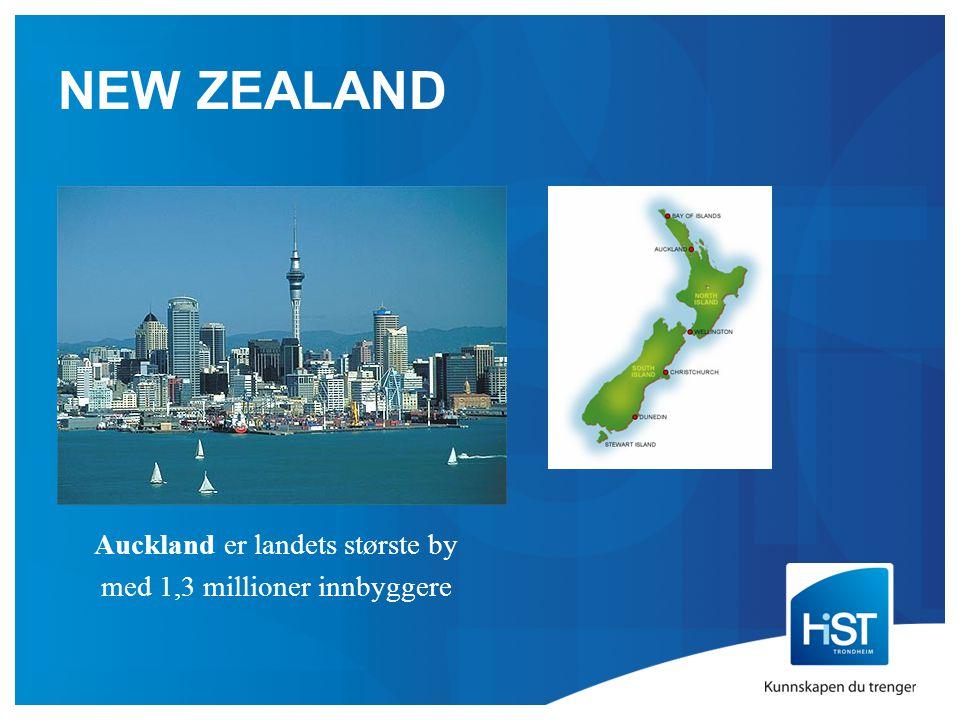 NEW ZEALAND Auckland er landets største by med 1,3 millioner innbyggere