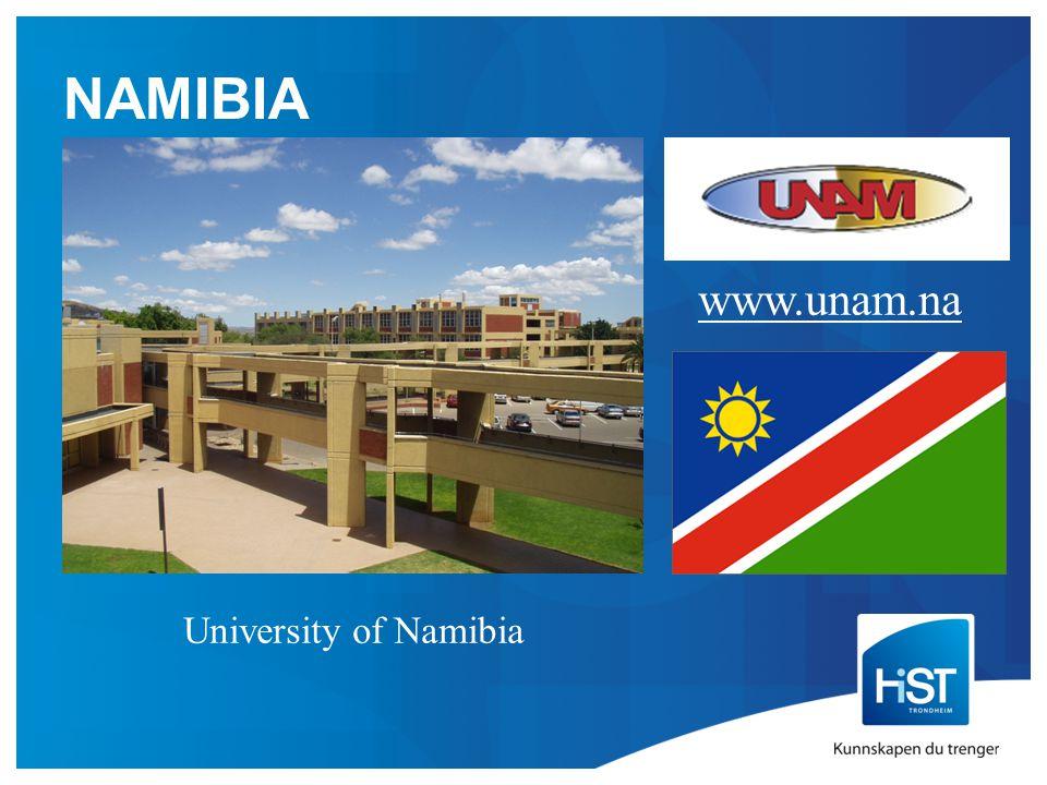 NAMIBIA www.unam.na University of Namibia