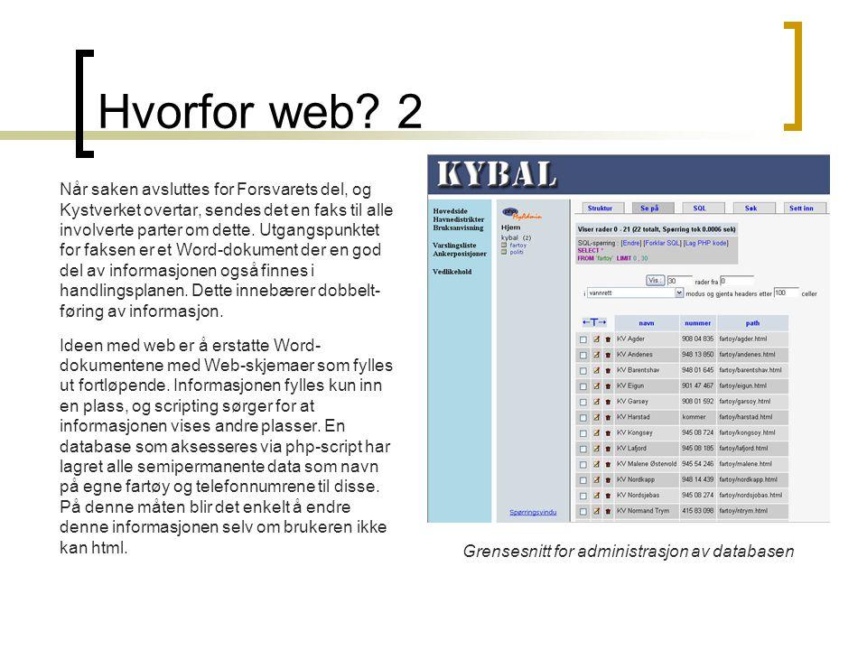 Hvorfor web.