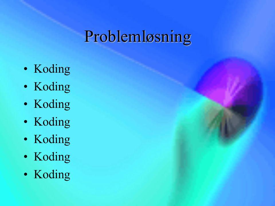 Problemløsning Koding