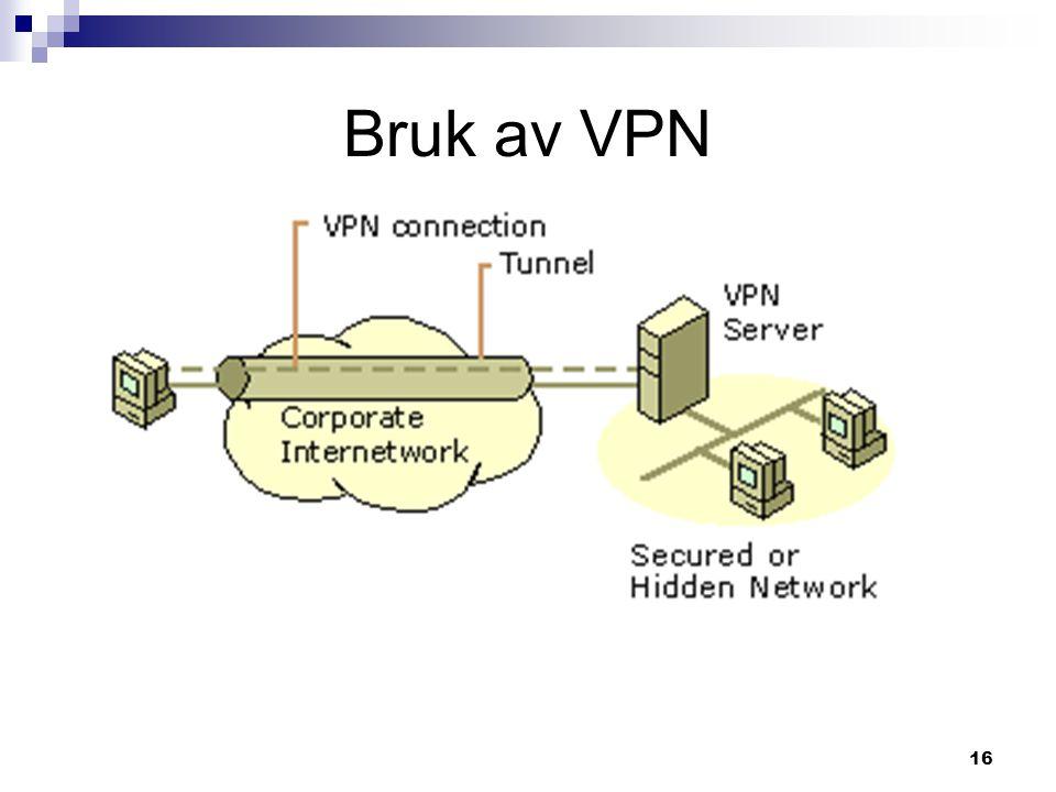 16 Bruk av VPN