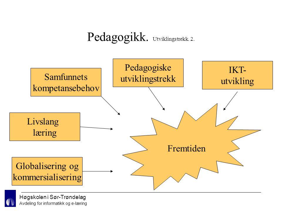 Høgskolen i Sør-Trøndelag Avdeling for informatikk og e-læring Trender i utdanningsmarkedet.