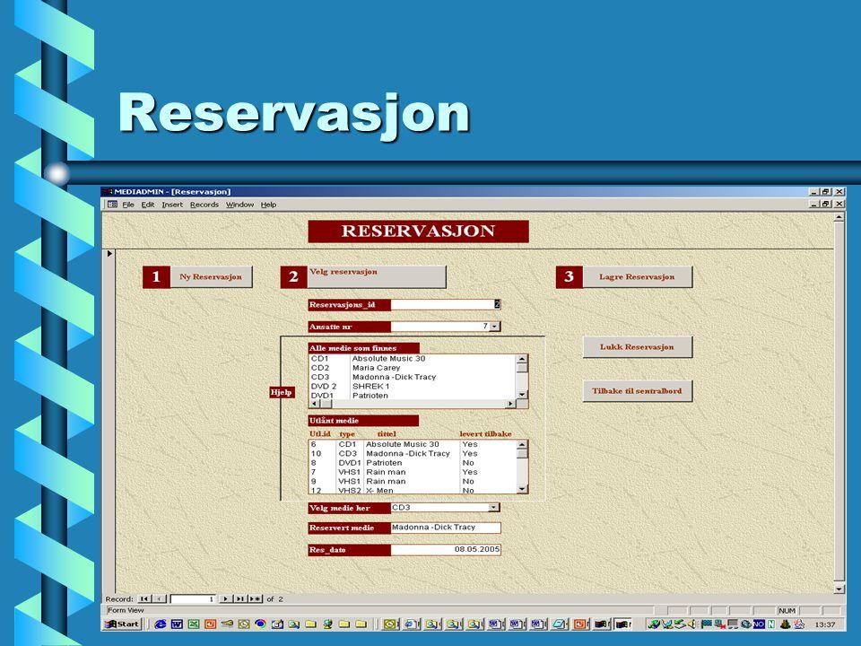 Reservasjon