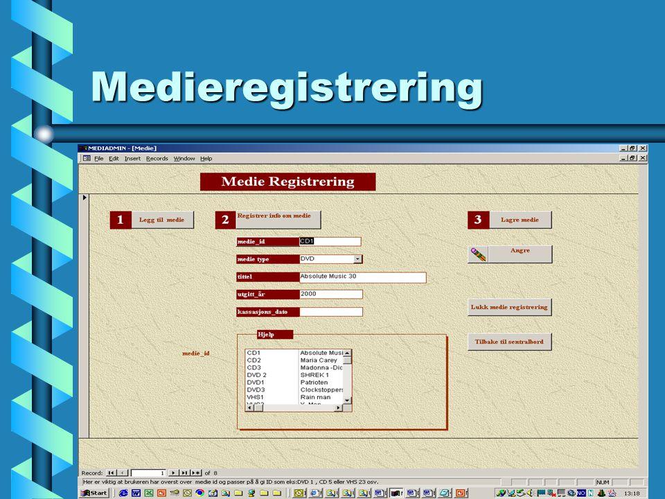 DVD registrering