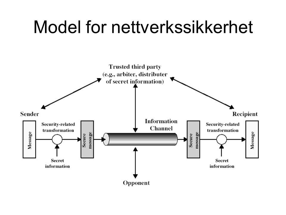 Model for nettverkssikkerhet