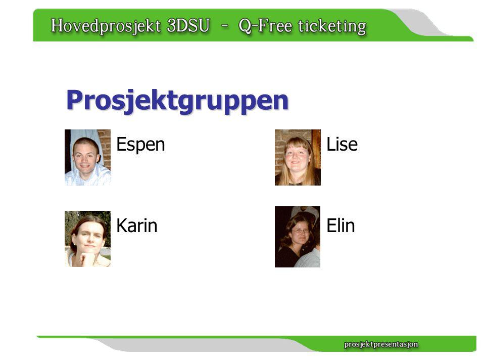 Prosjektgruppen Espen Karin Lise Elin