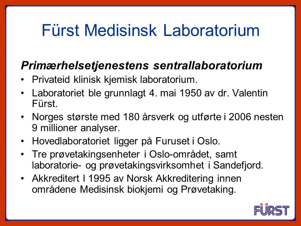 Fürst Medisinsk Laboratorium Primærhelsetjenestens sentrallaboratorium Privateid klinisk kjemisk laboratorium. Laboratoriet ble grunnlagt 4. mai 1950