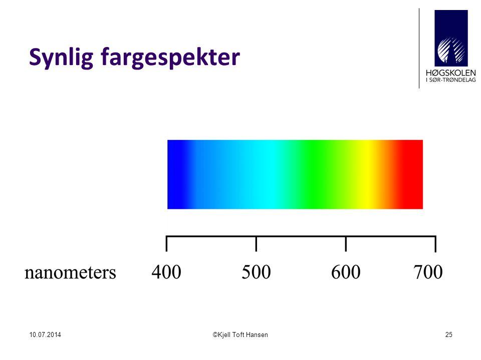 Synlig fargespekter 10.07.2014©Kjell Toft Hansen25