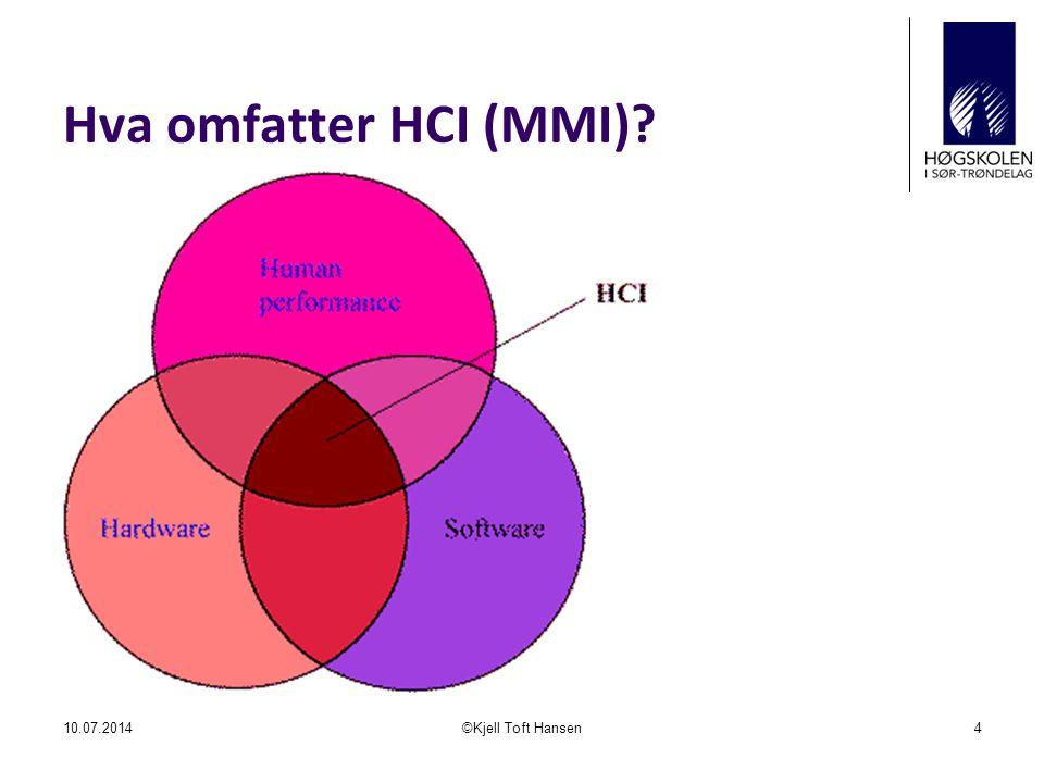 MHP – enkel respons 10.07.2014©Kjell Toft Hansen15 T = Tp+Tk+Tm.