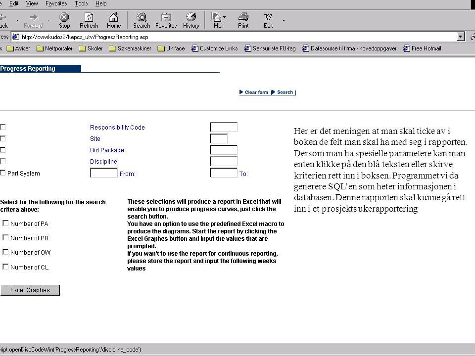 Kværner Oil & Gas a.s Dette er et eksempel på en template som kommer opp når man trykker på den blå teksten.