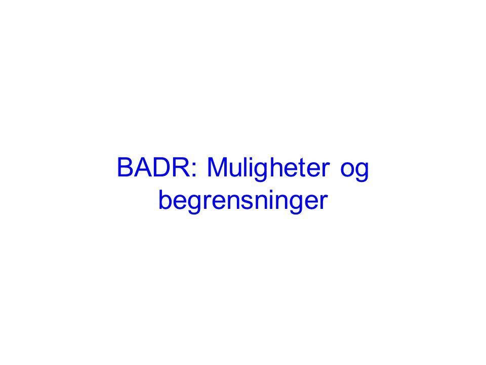 BADR: Muligheter og begrensninger