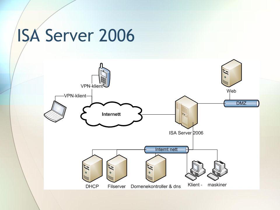 Installasjon og oppsett Monitoring VPN Firewall Policies