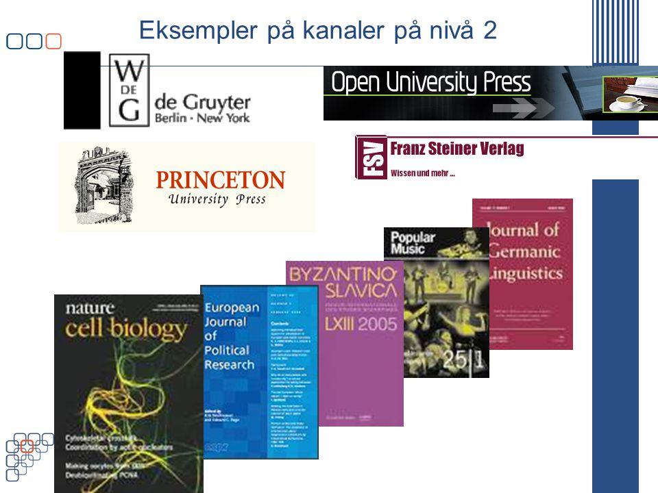 www.uhr.no uhr@uhr.no Eksempler på kanaler på nivå 2
